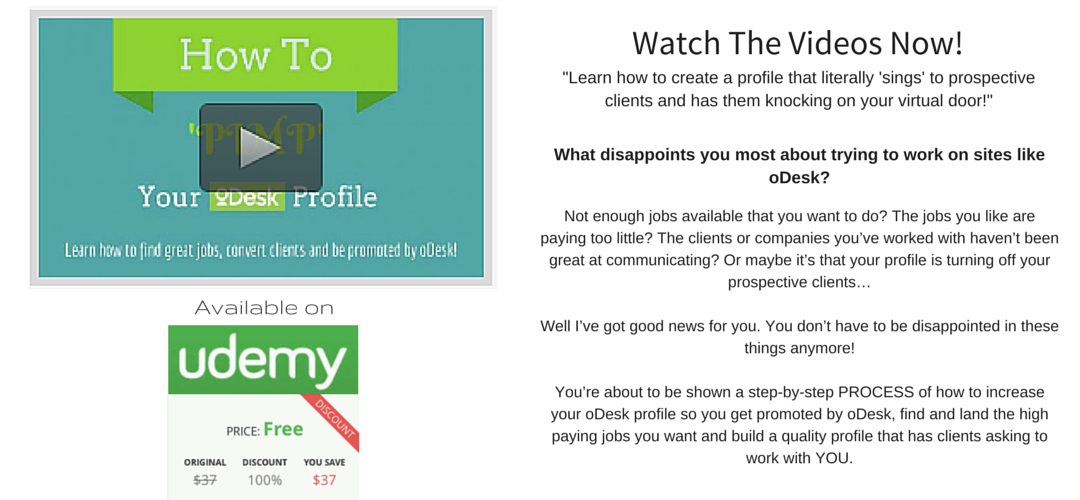 Get your free access to the Udemy course!
